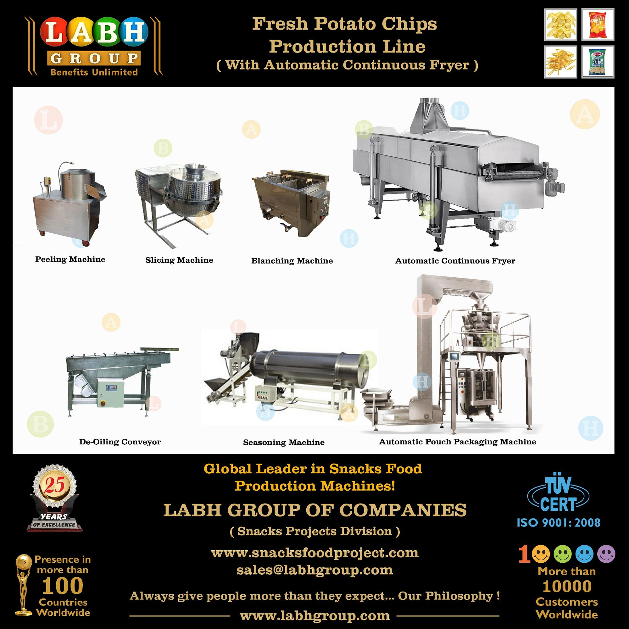 Fresh Potato Chips Making Machines