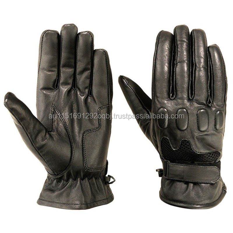 Genuine Leather Unisex Gloves Fashion Driving Motorcycle Warm Winter