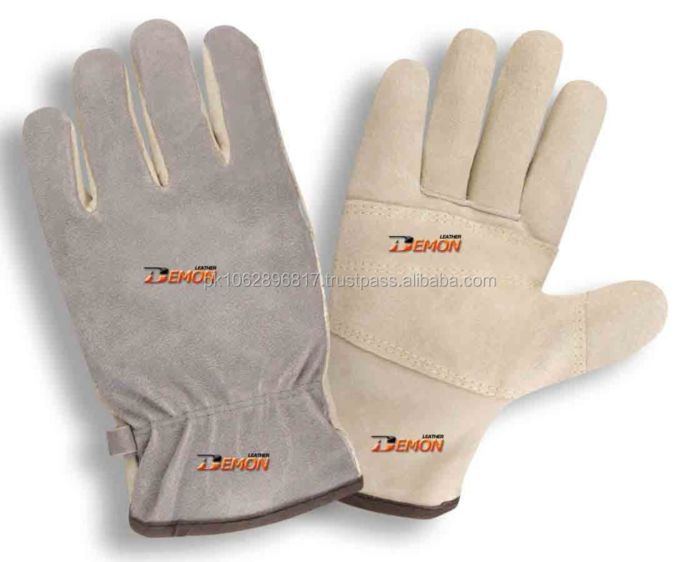 Cow,Buffalo,Goat,Sheep Yellow Crust Leather Driver Gloves