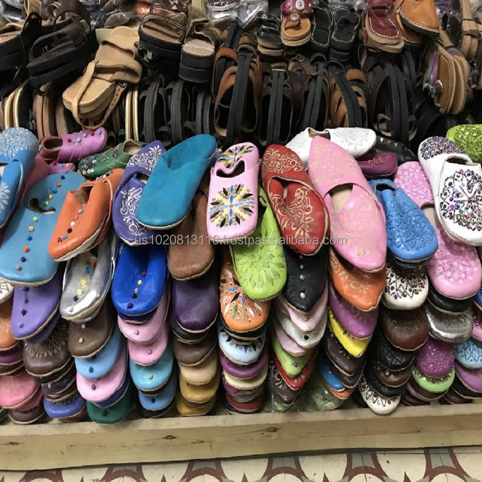 WHOLESALE PRICE Moroccan Genuine Leather Ladies Babouche Slippers