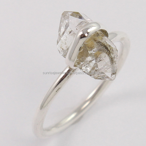 Natural HERKIMER DIAMOND Ring 925 Sterling Silver Jewelry, Wholesale Sterling Silver Jewelry, Fine Silver Jewelry