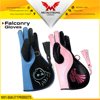 FALCONRY COWHIDE LEATHER GLOVES HANDLING GLOVE WITH EMBROIDERY LOGO (S M L)