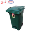 120 Litres DIY Rounded Corners Step Dustbin with easy opening cover, wheel & step (1009)