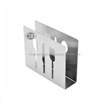 Silver heart-shaped Cutlery Holder / Latest High-Q Stainless steel Cutlery Holder for decoration