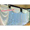 Asian Wedding Stage Lighted Backdrop Curtain, Cut Out Design Wedding Backdrop, Modern Wedding Stage Backdrop Curtains