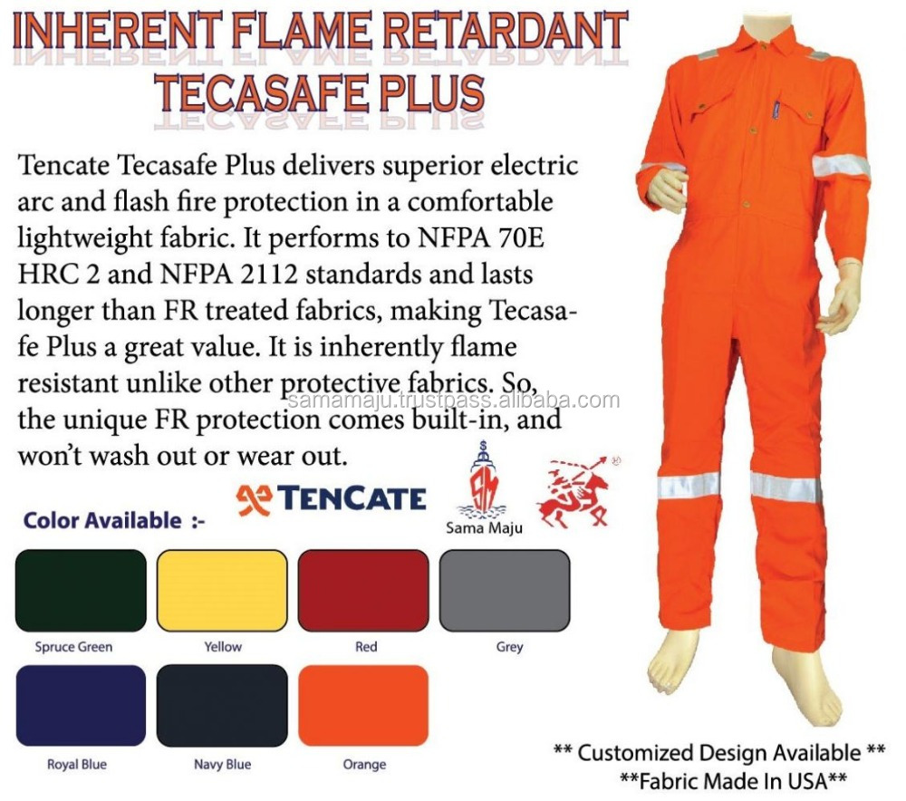 Tencate Tecasafe Plus 700 inherent fire resistant coverall