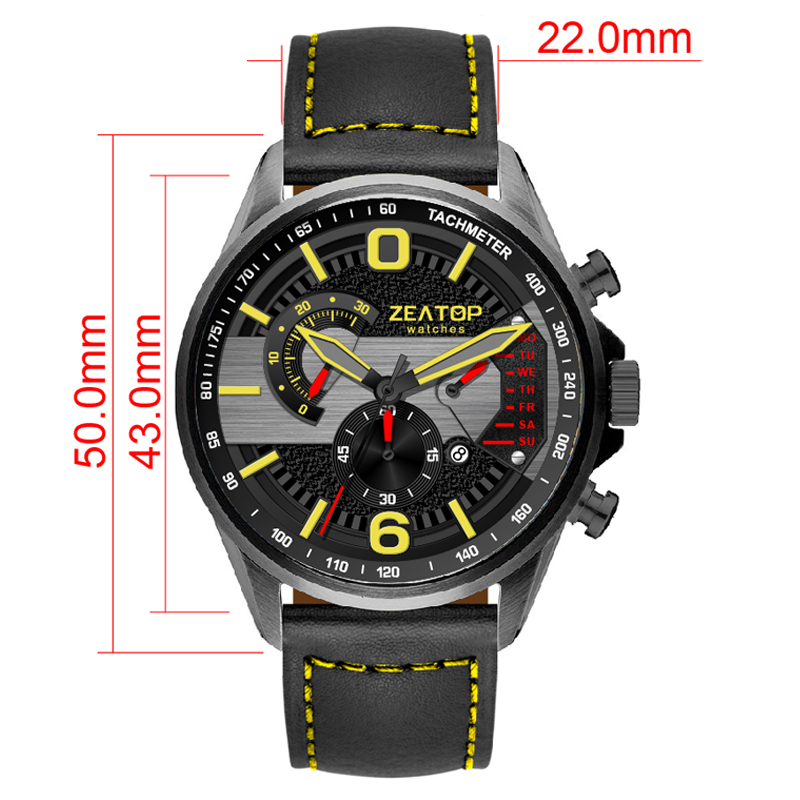 Luminous Multiple Time Zone Elegant Waterproof Watches Men Wrist Sports