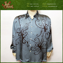 [Jadi Batek] Premium Hand Drawn latest formal shirt designs for men Long Sleeve Batik Shirt on Silk Material for Men Malaysia