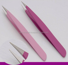 Precision stainless steel Slanted Tweezers for Ingrown Hair and Brow Plucking