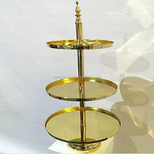 gold plated 3 tier cake stand