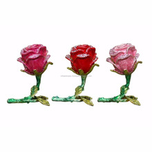 Indian Handmade Decorative Multi Colored Three Types Of Roses Handicraft