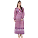 India karni latest New Style Girls full long Sleeve Long purple elephant printed screen Print Maxi Dress for girls