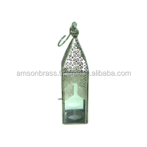 Iron & Glass Moroccan Lantern