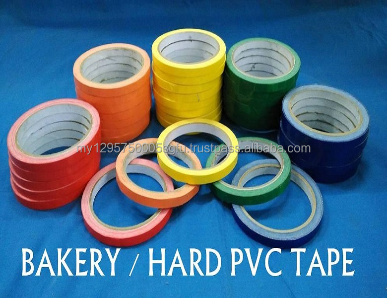 BAKERY / HARD PVC TAPE Excellent eventual bond, instantaneous tack for bakery purpose.
