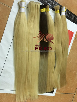 Two tone human hair extension color Ekko stylish remy hair bulk perfect service easy to order