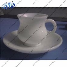 White Marble Tea Cup With Plate