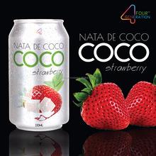 COCO nata de coco- strawberry juice -250ml 500ml