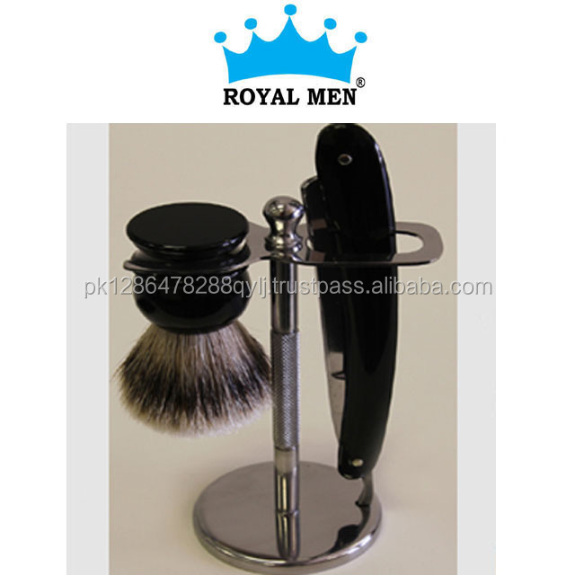 Royal Men Straight razor shaving stand pure badger hair brush barber men shaving gift