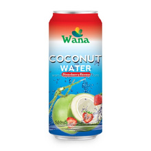 Wholesale Coconut Water With Strawberry Flavor in 500ml Can