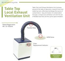 [CAFU] Small Size Table Top Local Exhaust Ventilation Unit Equipment with Flexible hose for industrial air ventilation