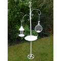 Outdoor Bird Bath With Stand | Hanging Bird Bath | Wrought Iron Bird Bath | Garden Bird Baths Sale