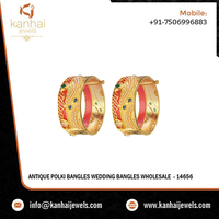 Antique Polki Bangles Wedding Bangles Wholesale - 14656