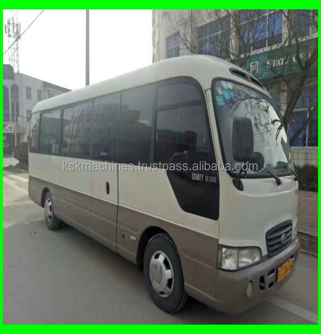 Used Hyundai Bus county. 25seats bus high quality bus with cheap price for sale korea cars
