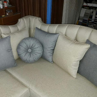 L Shaped Living Room Corner Sofa with Pillows