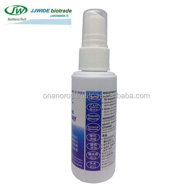 Antimicrobial Wound Spray - antiseptic for diabetes foot ulcer, burn, infection, odor remover