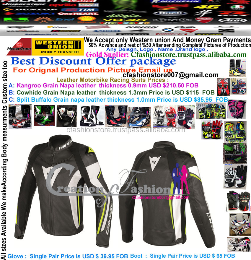 Professional Motorbike Leather Jacket