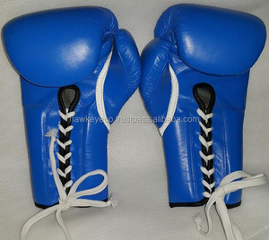 PU Leather Material custom boxing gloves in blue color Manufacture by Hawk Eye Co. ( PayPal Accepted )