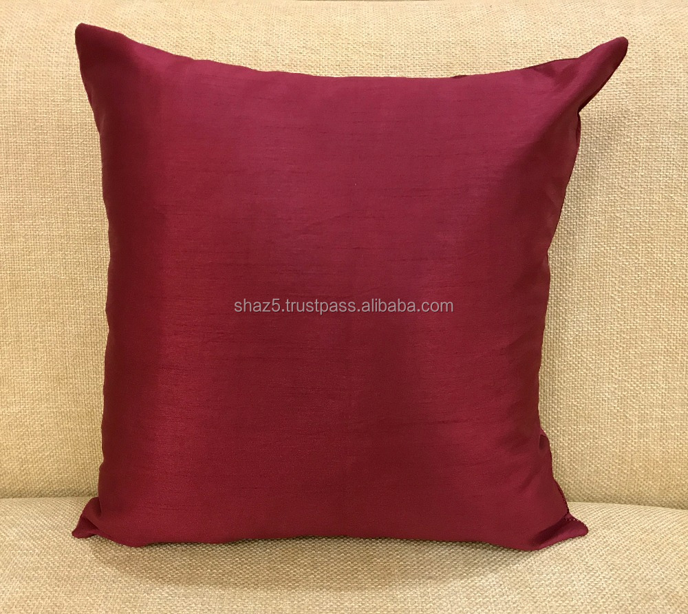 Raw Silk Cushion Cover