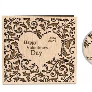 Fresh and literary DIY romantic creative heart shape handmade greeting card