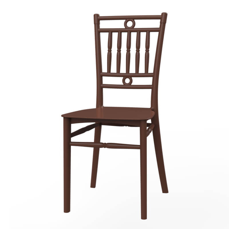 Brown Plastic PP chair looks like similar to  bamboo chair No.01222