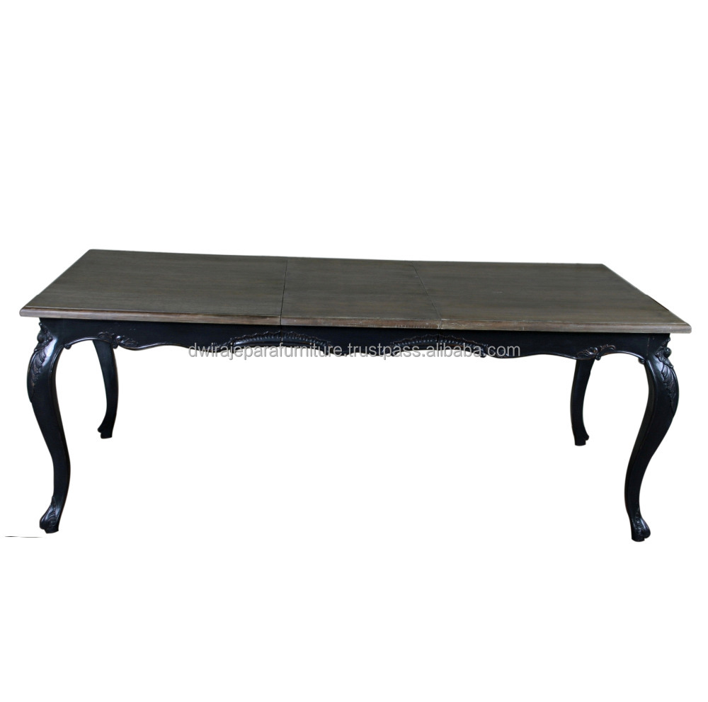 Extendable French Provincial Furniture Dining Table - Indonesia Furniture Dining Room