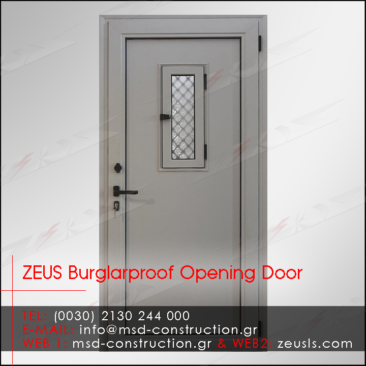 ZEUS New Tech Burglarproof Aluminum Door w Inox Railing