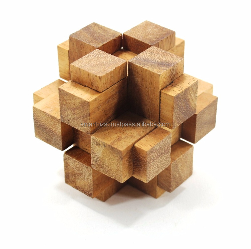 Maze Interlocking 3D Puzzle Wooden Games Interlocking Puzzles