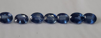 Natural blue sapphire stones ovals and pears MM size fo