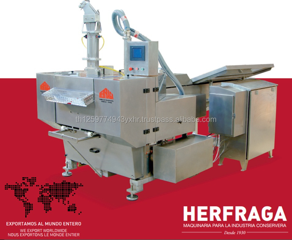 New Hi speed packing machine for tuna and another fishes, with large output.