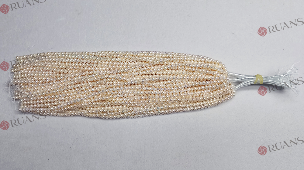 7.5-8 mm B1 grade round white pearl strands