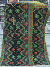Attractive Old Cotton Sari Vintage kantha Quilt