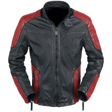 Will Smith Deadshot Suicide Squad Red and Black Biker Motorcycle Leather Jacket