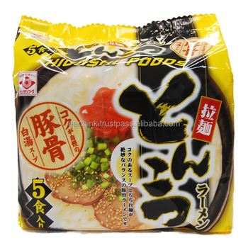 wholesale noodles / reasonable Japanese tonkotsu Ramen Noodles x 5 servings