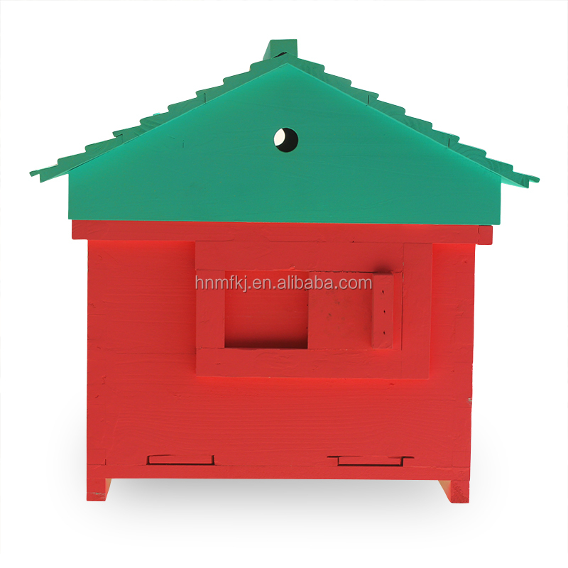 Wholesale durable top quality wood frame garden honey bee hive painted wooden beehive for bees