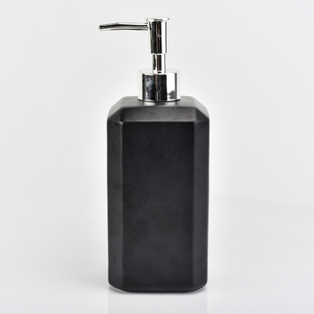 Matte black luxury ceramic bathroom accessory  Lotion dispenser  home decoration wholesales