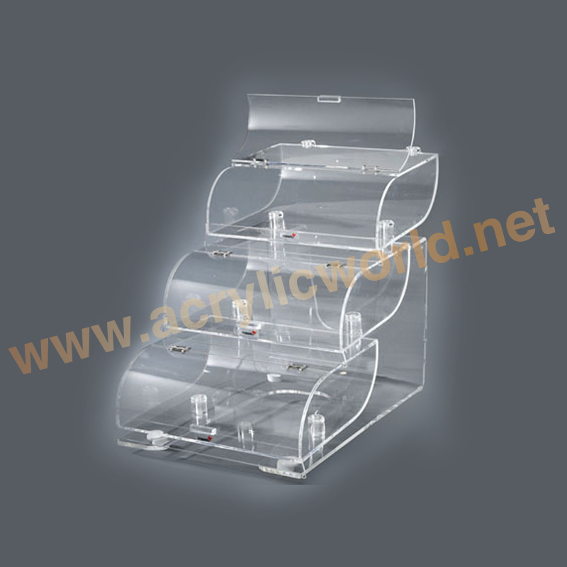 Factory price retail store clear and transparent acrylic candy bins or showcase