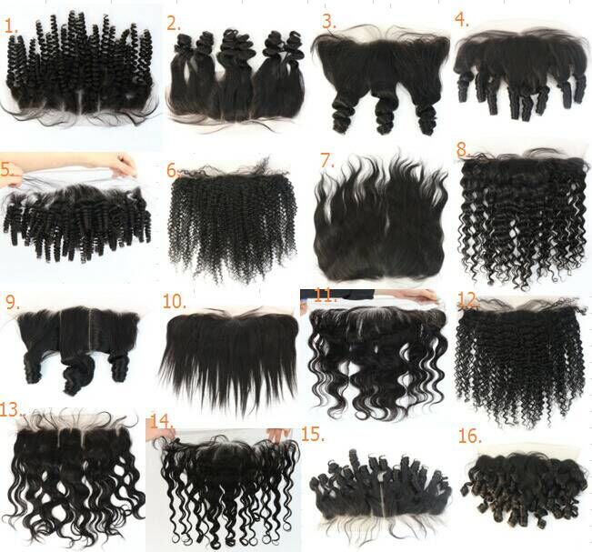 100% Brazilian Human Hair Swiss lace Illusion Pre Plucked Lace Frontal Closure 13X4 Silk Straight Free Part K Lace Closure