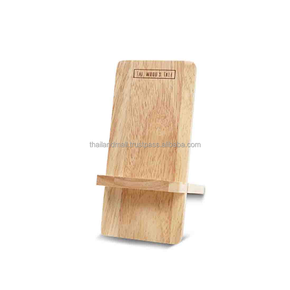 High Quanlity Rubber Wood Mobile Phone Display Stand from thailand Mall