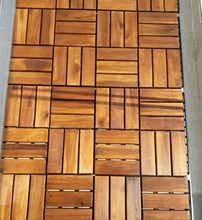 Outdoor wooden floor tiles / garden solid wood flooring / natural, dimention : 2 x 30 x 30 cm