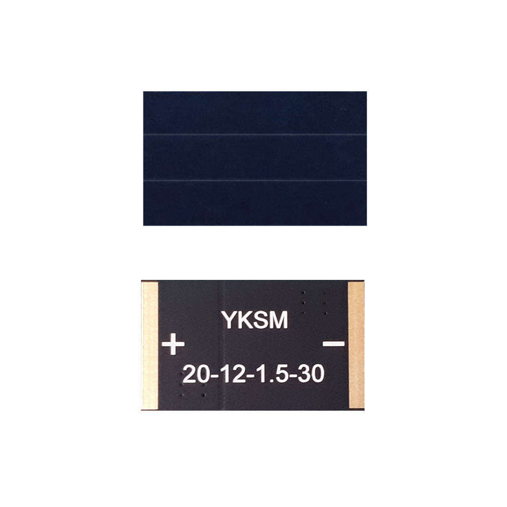 high efficiency monocrystalline solar for BLE, IoT, beacon, wearable, home security (10) YKSM 20mm-12mm-1V-30mA